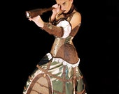 Steampunk ,Pvc Vinyl, Cosplay, Fantasy Skirt, Pirate, Sci-Fi,