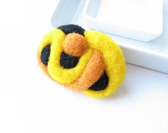 SALE Abstract and soft sculpture from  felted wool  // decorate, make a brooch, pendant, necklace