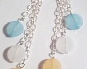 4 Inch Rainbow Triple Chain Earrings