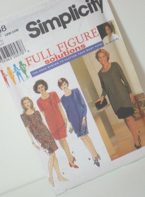 Full Figure Sewing Pattern - 1990's Simplicity 7738