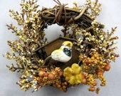 Bird and Rustic Birdhouse Christmas Ornament  221