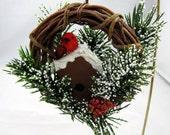 Red Bird on Birdhouse Christmas Ornament 106