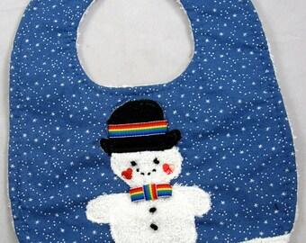 Snowman Baby Bib 202