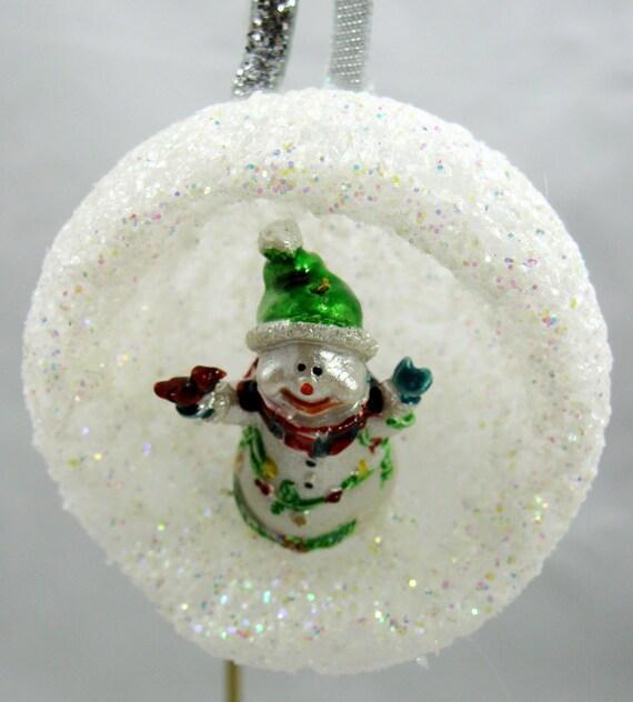Snowman in Igloo Christmas Ornament 106