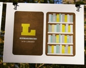 L is for Library - 8.5 x 11 Alphabet Art Print