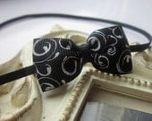 Baby Headband with Black and White Hairbow