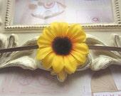 Baby Headband with Beautiful Sunflower