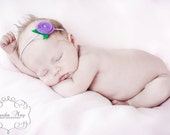 Items Similar To Baby Headband With Lilac Felt Rose And