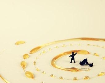 Honey Bear- 5x7 Metallic Print