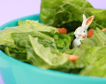 A Hare in My Salad- 5x5 Metallic Print
