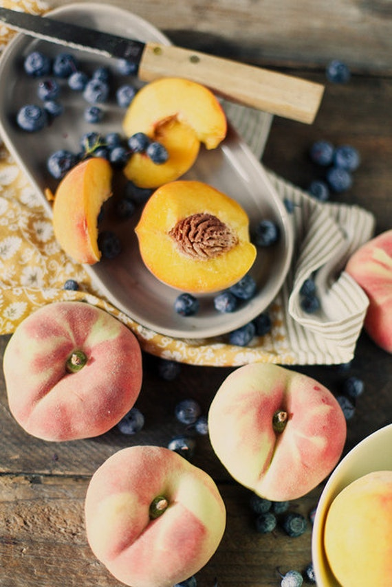 Peaches and blueberries 8x12 photo