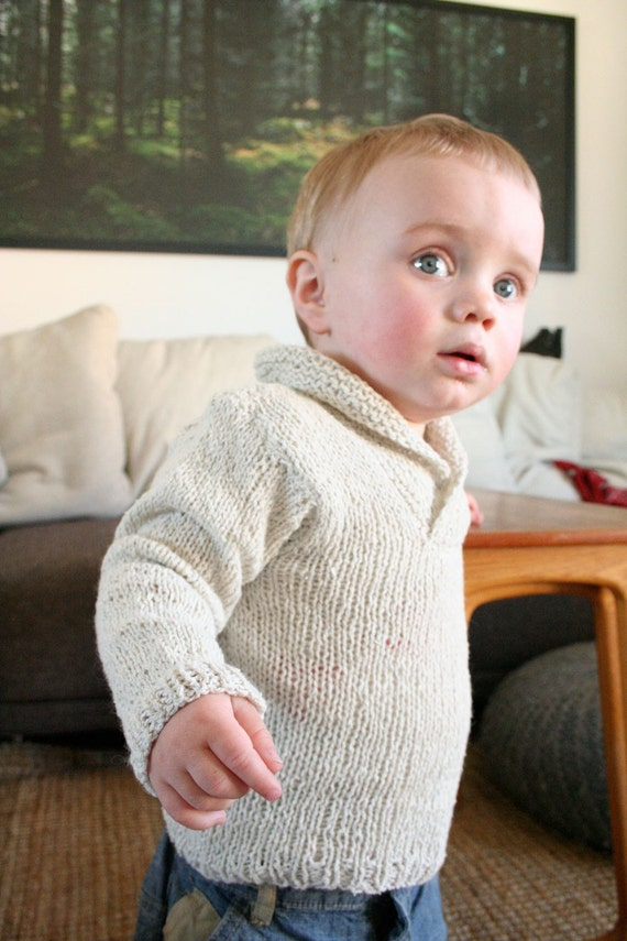 Oh, handsome sweater - knitting pattern - 12-18 m, 18-24 m, 3-4y