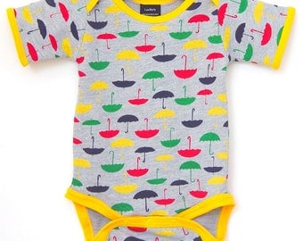 Handmade / Bodysuit / umbrella/ baby clothes - Rainy Daze