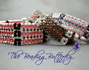 Wallflower Bracelet Tutorial - Digital Download