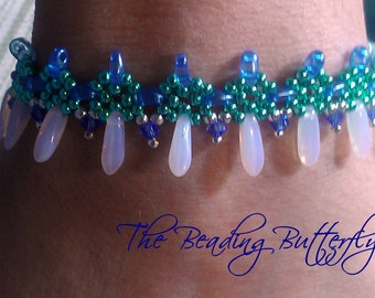 Gothic Crosses Bracelet  or Choker Tutorial - Beadweaving Pattern for Twin or Duo Beads - Digital Download