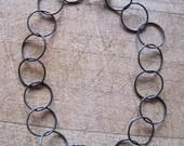 Oxidized Recycled Silver Bracelet