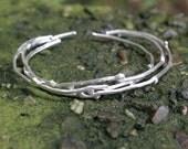 Twig Bracelets Sterling Silver Set of 3