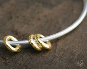 Sterling Silver and 14k Gold Bangle