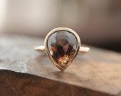 Large Calico Rose Cut Diamond Ring - SaaraReidsema