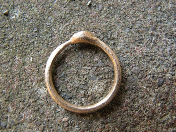 Ouroboros Snake Ring in 14k Gold