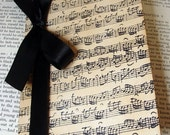 100 Music Notes Wedding Invitation with Envelopes by Craftypagan Designs