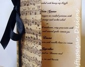 Wedding Menu or Order of Service Music Notes by Craftypagan Designs