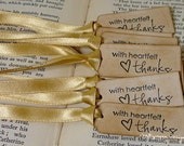 Thank You Tags/ Tiny Vintage Thanks Tags/ Tags to Tie/ Heartfelt Thanks/ Set of 140