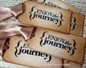 Journey Travel-Gift Tag- Set of 9 Handmade Vintage Travel Tags