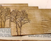 Wood Grain Place Cards WITH Name Printing-SET of 120-by Craftypagan Designs