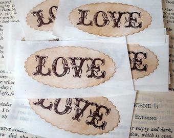 LOVE Sticker Seals-Handmade-Perfect for Sealing Invites-BUNDLE Set of 50