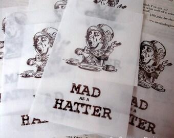 Alice in Wonderland Small Glassine Favor Bags- Assorted Selection- Set of 100.