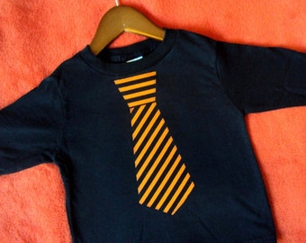 Boys Halloween Shirt - Tie Shirt- Toddler and Youth sizes