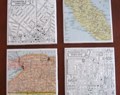 Vintage Map Coasters YOU PICK the PLACES