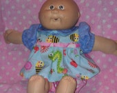 HOLIDAY SALE Summertime dressy shirt with bumble bees and pink shorts for Build a Bears, Cabbage Patch Kids, and other similar sized dolls