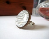 SALE - Walnut and Snow Drifts Ring