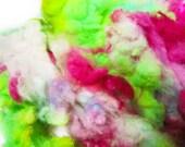 Cupcake - Spinning Felting Fiber Targhee Fleece Hand Dyed