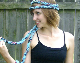 Blue Braided Super Long Versatile Headwrap