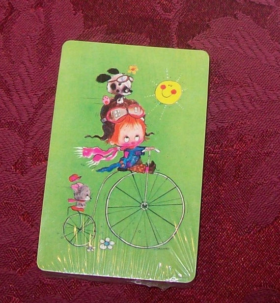 Vintage Deck of Playing Cards Cute
