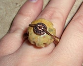 Tulip Bulb Ring Wire Wrapped Copper Spring Fashion Size 7