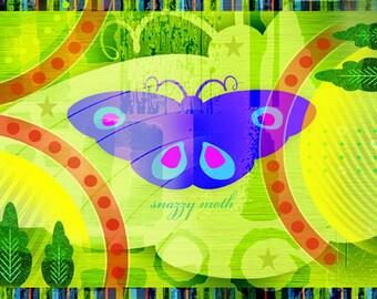 """Fun Stylized """"Snazzy Moth"""""""