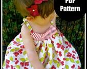 "Girls Dress Pattern, Baby Dress Pattern, Sewing Patterns, PDF Sewing Pattern, Easy Sewing PDF Patterns  ""Babydoll Dress"""