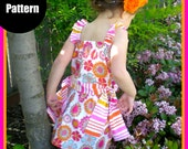 "Girls Dress Skirt Pattern, PDF Sewing Pattern, 12m-5T ""The Paige Top & Skirt"""