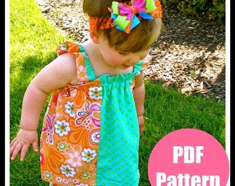 "Girls Dress Pattern, Baby Dress Pattern, Sewing Patterns, PDF Sewing Patterns, Easy Sewing PDF Patterns, 12m-8 ""Bella Dress"""
