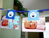 SALE - Cookie Monster Birthday Party - 12 MONTH BANNER (you add photos)