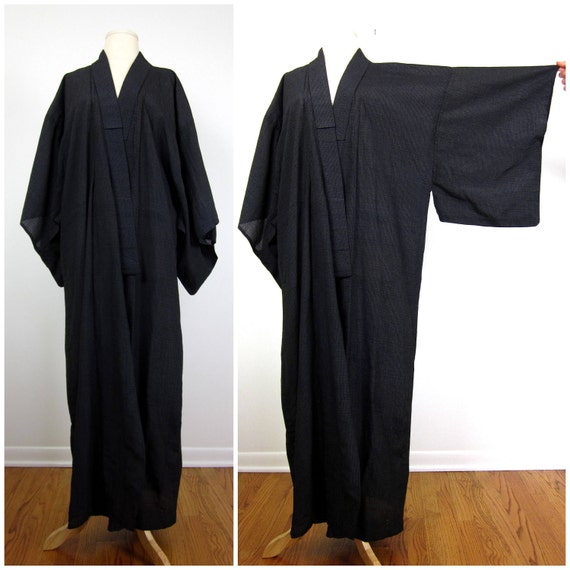 Vintage Handsewn Kimono Style Robe / One Size Fits Most