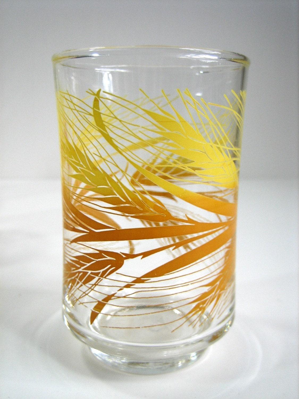 Wheat Pattern Libbey Juice Glasses 70s