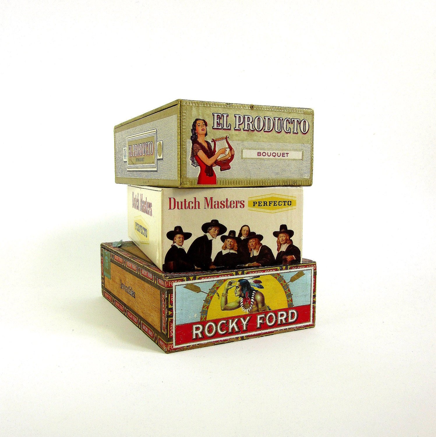 Collection of vintage cigar boxes for Cardboard cigar box crafts