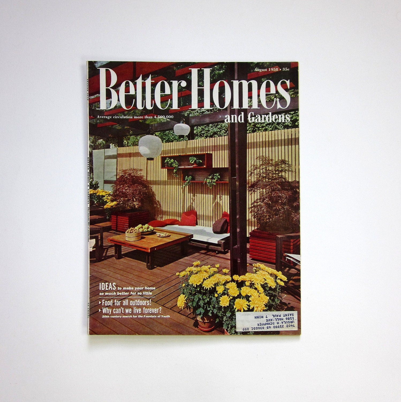 Garden Decor Magazine: Better Homes And Gardens Magazine August 1958 / Featuring