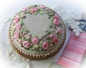PDF PP13 Roses and Pearls Pincushion Kit (pink) Pattern