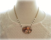 ON SALE  Country Bird Resin Necklace
